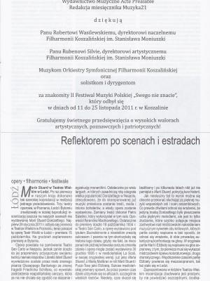 MUZYKA21 - Reflektorem po scenach i estradach - Adam Czopek1